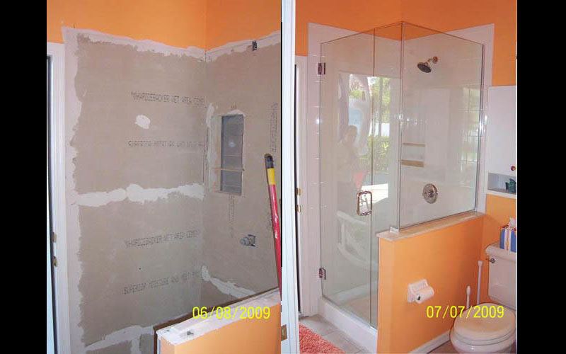 A whole bathroom was brought up to standards with this complete overhaul.